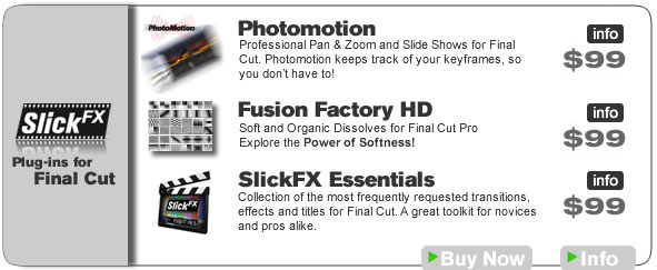 Slick FX Final Cut Products